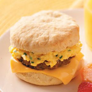 Sausage 'n' Egg Biscuits Recipe