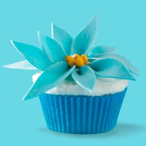 Winter Fantasy Poinsettia Cupcakes Recipe