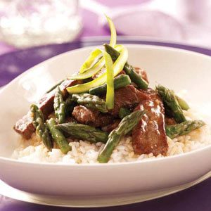 Gingered Beef and Asparagus Stir-Fry