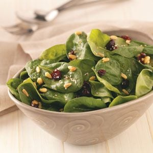 Curry-Cranberry Spinach Salad Recipe