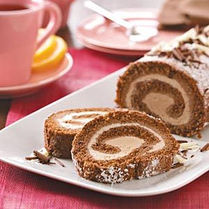Mocha Ice Cream Cake Roll Recipe