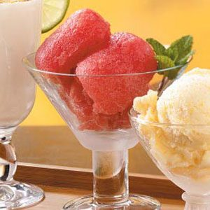 Watermelon Cranberry Sherbet Recipe