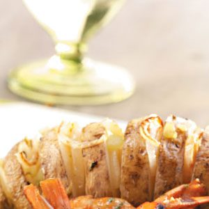 Garlic-Oregano Grilled Potato Fans Recipe