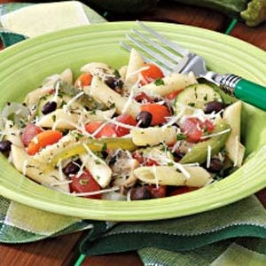 Penne with Veggies and Black Beans Recipe