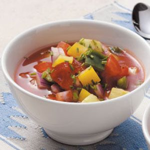 Healthy Gazpacho for 2 Recipe photo by Taste of Home