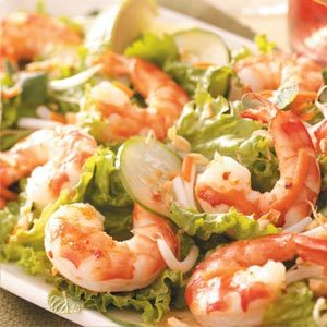 Spicy Asian Shrimp Salad