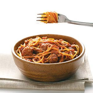 Italian Sausage Spaghetti Sauce Recipe photo by Taste of Home