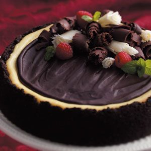 Triple-Layer Chocolate Cheesecake Recipe