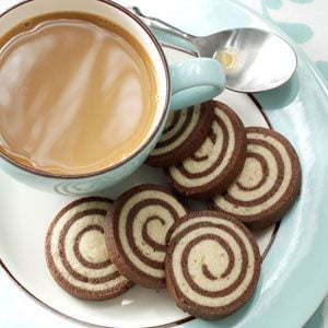 Chocolate-Nut Pinwheel Cookies Recipe