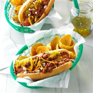 Chili Coney Dogs Recipe
