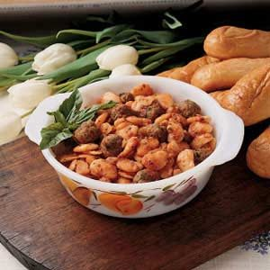 Lima Beans with Pork Sausage Recipe