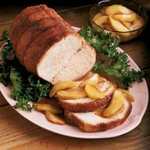 Pork Roast with Spiced Apples Recipe