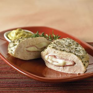 Ham and Swiss Stuffed Chicken Breast with Mustard Sauce Recipe