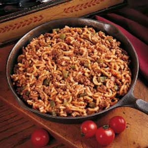 Skillet Beef and Macaroni Recipe
