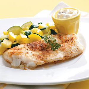 Orange Roughy with Tartar Sauce Recipe