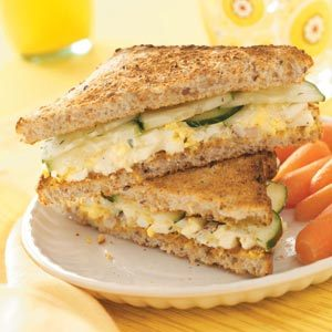 Egg Salad & Cucumber Sandwiches Recipe