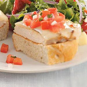 Chicken Bruschetta Sandwiches Recipe