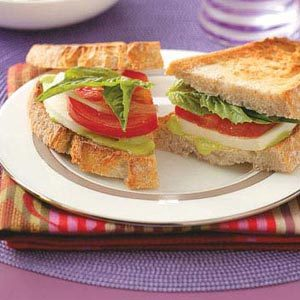 Fresh Mozzarella Basil Sandwiches Recipe
