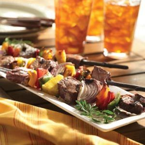 Grilled Beef and Vegetable Kabobs Recipe