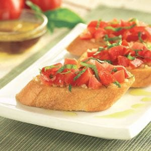 Roma Tomato Bruschetta Recipe