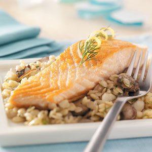Salmon with Herb and Cirtus Orzo Recipe