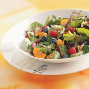 Fruited Mixed Greens Salad Recipe