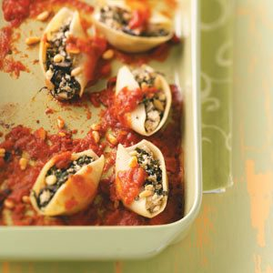 Lactose-Free Veggie-Stuffed Shells Recipe