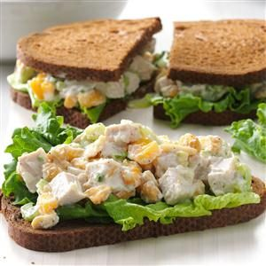 Cashew Turkey Salad Sandwiches Recipe