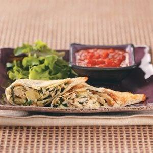 Artichoke Chicken Pockets Recipe