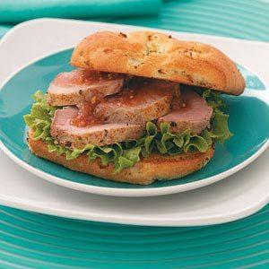 Roast Pork Sandwiches with Peach Chutney
