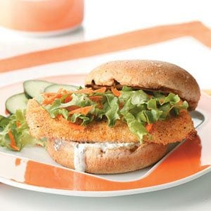 Breaded Fish Sandwiches Recipe