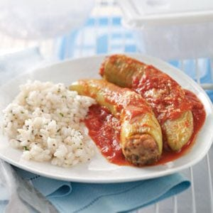 Three-Meat Stuffed Banana Peppers Recipe