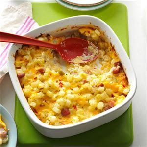 Ham & Cheese Potato Casserole Recipe