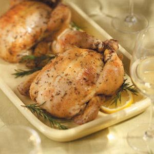 Spit Roasted Lemon Rosemary Chicken Recipe