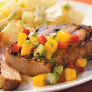 Mango-Lime Pork Chops Recipe