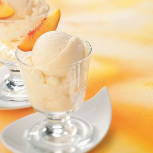 Frozen Peach Yogurt Recipe