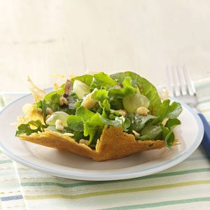 Parmesan, Walnut & Arugula Baskets Recipe