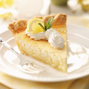 Mom's Lemon Custard Pie