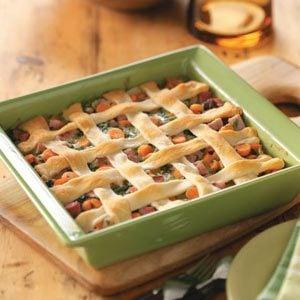 Ham & Spinach Casserole Recipe