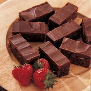 Iced Brownies Recipe