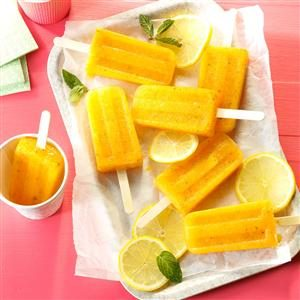Lemon-Apricot Fruit Pops