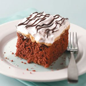 Makeover Chocolate-Caramel Nut Cake Recipe