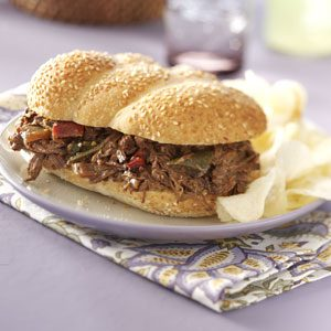Tex-Mex Beef Sandwiches Recipe