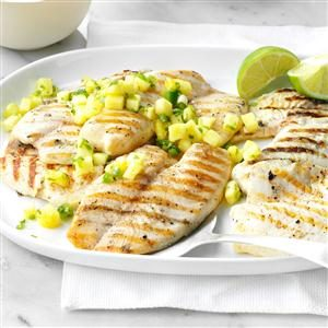 Grilled Tilapia with Pineapple Salsa