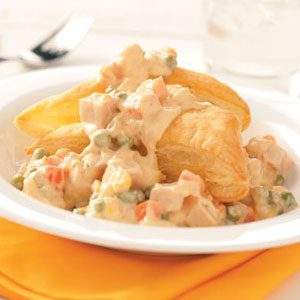 Creamed Turkey with Puff Pastry Recipe