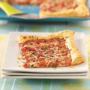 Tomato Tart with Three Cheeses Recipe