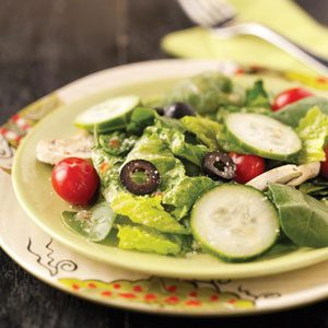 Veggie Tossed Salad Recipe