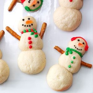 Snowman Christmas Cookies Recipe