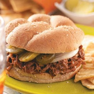 Slow-Cooked Barbecued Beef Sandwiches Recipe