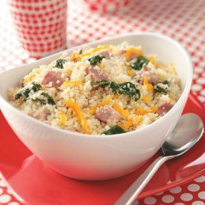 Ham & Spinach Couscous Recipe
